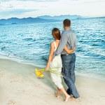 Couple on the beach — Stock Photo #6807683