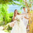 matrimonio tropicale — Foto Stock