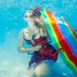 Woman underwater — Stock Photo #7238779