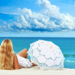 Beach woman — Stock Photo