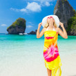 Woman on the beach — Stock Photo #7693330