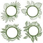 Vector set of autumn leafs frames — Stock Vector