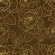 Vector seamless grunge floral pattern with herbarium — Stockvectorbeeld