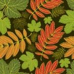 sfondo foglie d'autunno vettore senza soluzione di continuità. giorno del ringraziamento — Vettoriale Stock