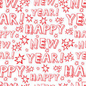 Seamless vector New Year pattern — Stock Vector