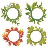 Vector set of autumn leafs — Stock Vector