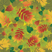 Seamless vector autumn leaves background. Thanksgiving — Stock Vector