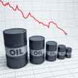Fall down oil barrel - Stock Photo