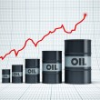 Rising oil barrel — Stock Photo