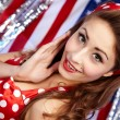 Royalty-Free Stock Photo: Sexy Patriotic American  Girl