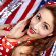 Sexy Patriotic American Girl — Stock Photo #6767792