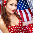 Sexy Patriotic American Girl — Stock Photo #6767870