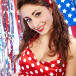 Sexy Patriotic American Girl — Stock Photo #6768131