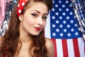Sexy Patriotic American  Girl — Photo