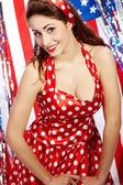 Sexy Patriotic American Girl — Stok fotoğraf