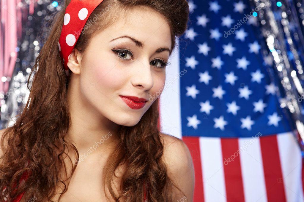 性感爱国的美国女孩