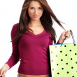 Sexy shopping girl — Stock Photo