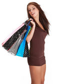 Ragazza sexy shopping — Foto Stock