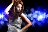 Beautiful dancing girl — Stock fotografie