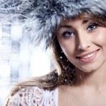 Smiling Winter Woman — Stock Photo