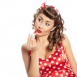 Pin-up girl. American style — Stock Photo #7309748