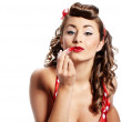 Pin-up girl. American style — Stock Photo #7309829