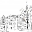Old town - illustration sketch — Stock Photo #7309891