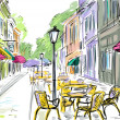 Illustration to the old town — Stock Photo #7330340