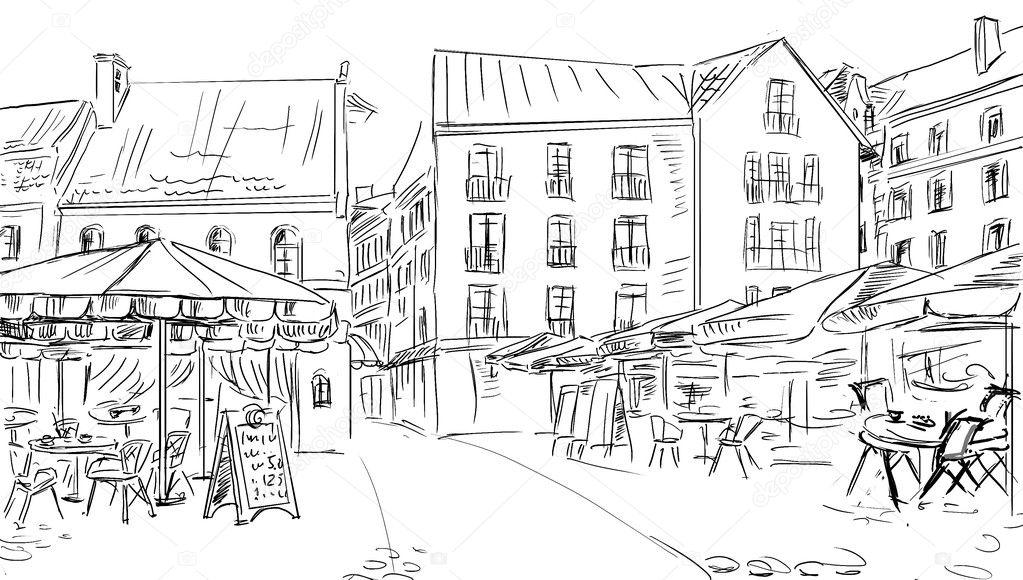 Illustration  to the old town   Stock Photo #7330329