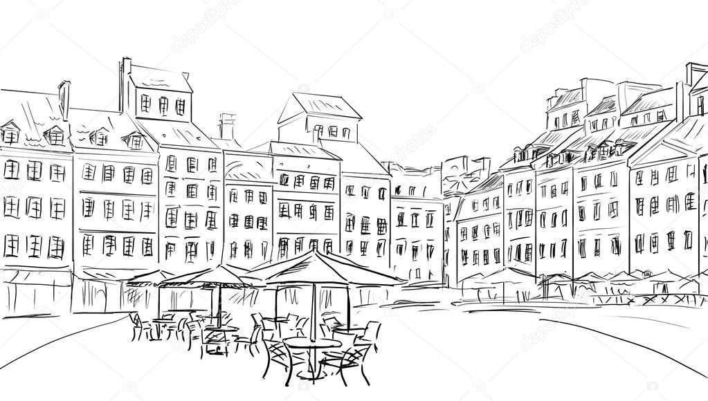 Illustration  to the old town  — Stock Photo #7330369