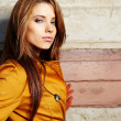 Young fashion woman in autumn color — Stockfoto #7412442