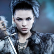 Warrior woman. Fantasy fashion idea. -  