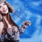 retrato de uma mulher de inverno — Foto Stock
