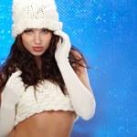 Winter fashion Girl with beautiful make up — Stock Photo #7619442