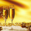 Champagne glasses ready to bring in the New Year — Stock Photo #7634061