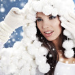 Stock Photo: Portrait of a winter fashion woman
