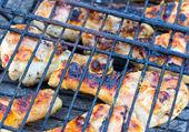 BBQ chicken drumsticks — Stock Photo