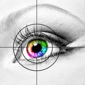 Eye and target — Stock Photo