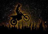 MX Rider silhouette — Stock Photo