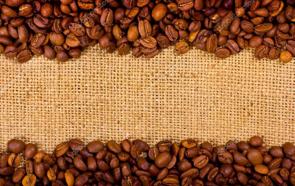кофейные зерна мешковина ткань  № 3696143 бесплатно