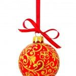 Red Christmas ball — Stock Photo #7338851