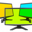 Three monitors — Stock Photo #7338854