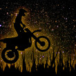 MX Rider silhouette - Stock Photo