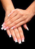 French manicure — Stock Photo
