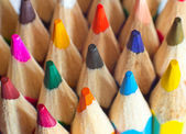 Colored pencils closeup — Stock Photo