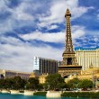 View on the replica of Eiffel Tower at Paris Hotel & Casino. Las — Stock Photo
