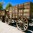 Stock Photo: An old wagon in the Death Valley. California