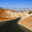 Lifeless landscape of the Death Valley - Stock Photo
