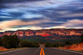Landscapes of Utah state. USA. After sunset. — Stock Photo