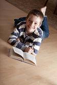 Boy reeding book — Stock Photo